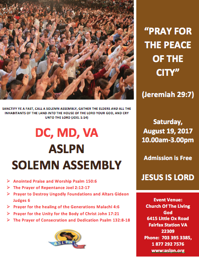 Maryland, D.C., & Virginia Solemn Assembly 2017